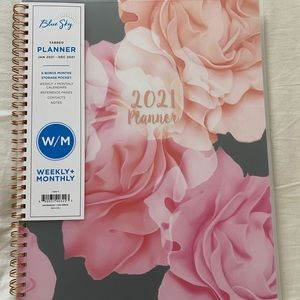 Blue Sky 2021 Planner Weekly & Monthly New